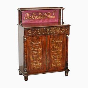 Antique Cocktail Cabinet in Flamed Hardwood