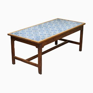 Antique Tiled Refectory Dining Table