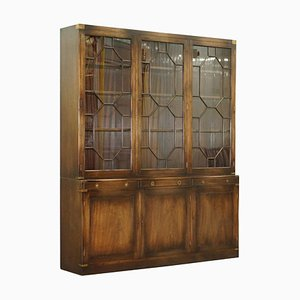 Astral Glazed Military Campaign Library Bookcase