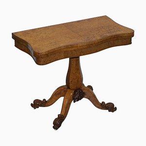 Very Fine Circa 1835 William Iv Antique Pollard Oak Folding Card Pedestal Table