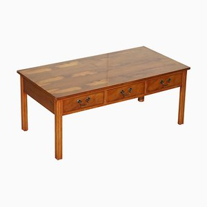 Burr Yew Wood Coffee Table from Harrods London