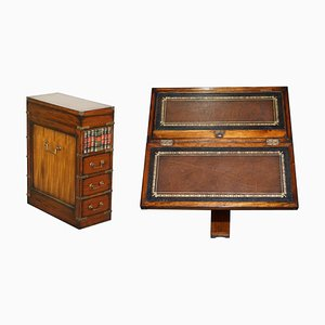 Brown Leather Chest of Drawers from Harrods