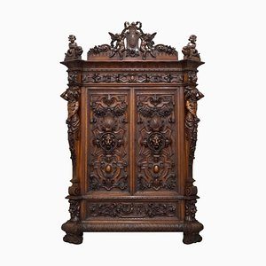 Venice Antique Carved Cabinet by Carlo Scarpa by Pauly et Cie for Guggenheim Museum