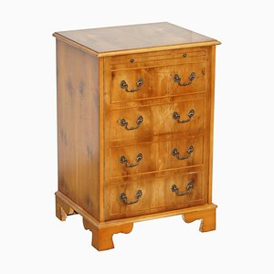 Burr Yew Wood Record Player Cabinet