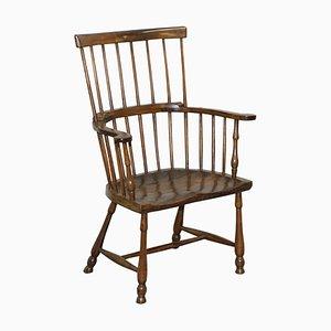Elm Comb Back Windsor Armchair, 1840s