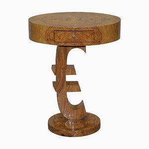 Art Deco Style Burr Walnut Side Table