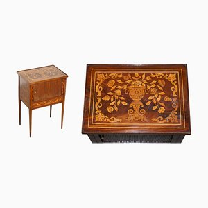 19th Century Dutch Marquetry Inlaid Side Table