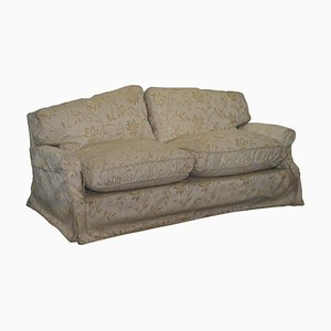 Victorian Sofa with Feather Filled Cushions from Howard & Sons