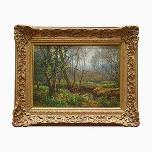 Frederick Golden Short, New Forest Woodland, 1920, Oil Painting