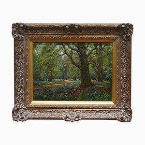 Frederick Golden Short, New Forest Bluebell Wood, 1912, Oil Painting