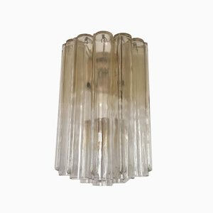 Vintage Italian Tubular Glass Sconces by Toni Zuccheri for Venini, Set of 3