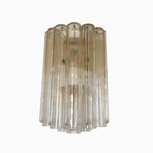 Vintage Italian Tubular Glass Sconces by Toni Zuccheri for Venini, Set of 3