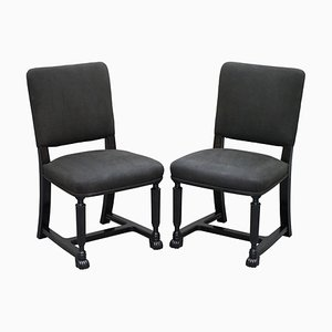 Chairs with Ebonized Frames, Set of 2