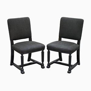 Stühle mit ebonisierten Gestellen, 2er Set