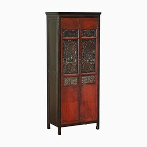 Chinese Hand Carved and Lacquered Cabinet, 1860s