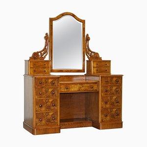 Antique Victorian Burr Walnut Dressing Table