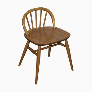 Small Blond Elm Wood Side Chair