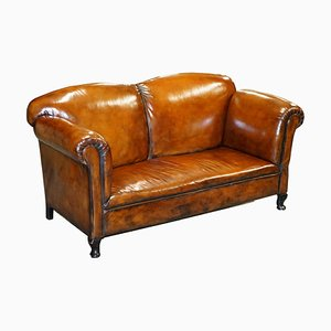 Whisky Brown Leather Sofa