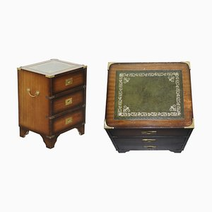 Chest of Drawers with Leather Top