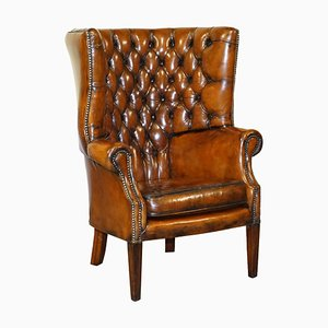 Late Victorian Chesterfield Wingback Armchair