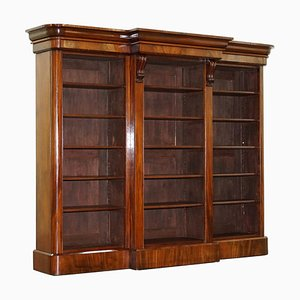 Victorian Hardwood Library Open Bookcase, 1860s