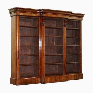 Viktorianisches offenes Bücherregal aus Hartholz, 1860er