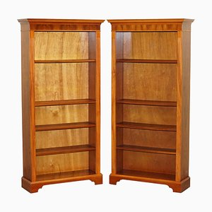 Walnut Library Bookcases from Beresford & Hicks, Set of 2
