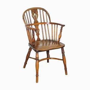 Burr Yew Wood Armchairs, 1860s