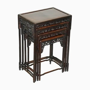 19th Century Chinese Nest of Tables, Set of 4