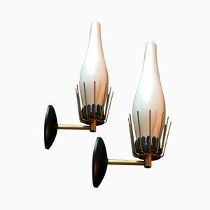 Italienische Mid-Century Wandlampen von Arredoluce, 2er Set
