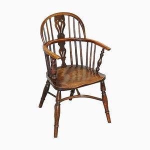 Solid Elm Windsor Armchair, 1860s