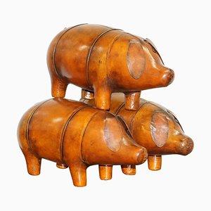 Repose-Pieds de Porc en Cuir Marron