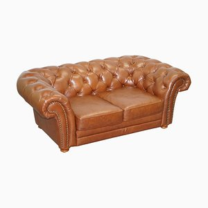 Braunes Leder Chesterfield Sofa