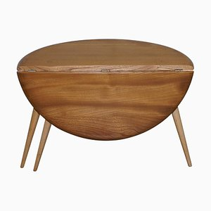 Elm Folding Drop-Leaf Coffee or Side Table from Ercol, 1960s