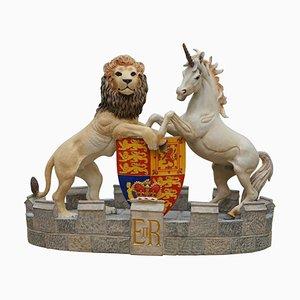 Model of Queen Elizabeth II's Heraldic Crest Lion Statue