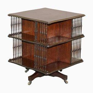 Antikes viktorianisches Bücherregal oder Beistelltisch von Howard & Sons