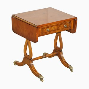 Extending Burr Yew Wood Side Table from Bevan Funnell