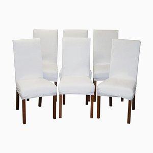 Contemporary Bicast Leder Esszimmerstühle mit Maßgefertigten Bezügen, 6er Set