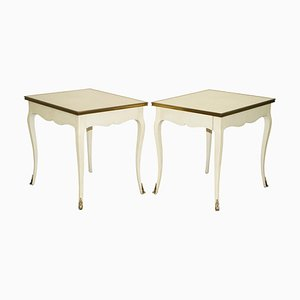 Large Side Tables with Single Drawers in Brass by Ralph Lauren for the Cannes Estate Suite