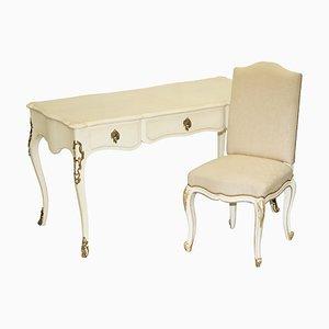 Französischer Bureau Plat Schreibtisch & Bürostuhl von Ralph Lauren für the Cannes Estate Suite, 2er Set