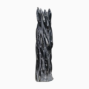 Large 395 Million Year Old Fossilized Orthoceras Statue in Marble Finish