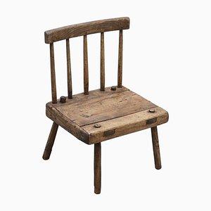 Irischer Stuhl aus Originalem Holz, 1820er