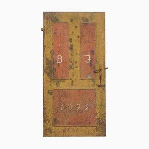 Hungarian Hand Painted Anti Looting Security Door, 1922