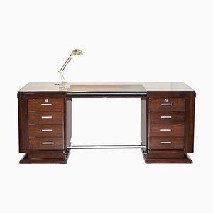 Art Deco Hardwood Desk from Galerie Jacques Lacoste, Paris