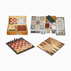 Victorian Hardwood Games Compendium Including Chess & Dice, 1890s