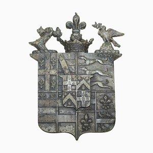 Wappen oder Wappen aus massiver Bronze mit Grünspan