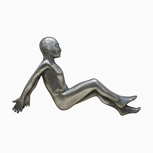 Decorative Pewter Sideways Facing Person from Compulsion Gallery, 1994