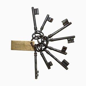 Antique Victorian Lincoln Castle Prison Key Set