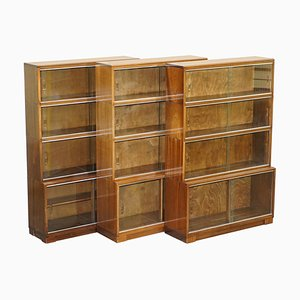 Modular Stacking Bookcases with Hardwood Frames from Minty Oxford, Set of 3