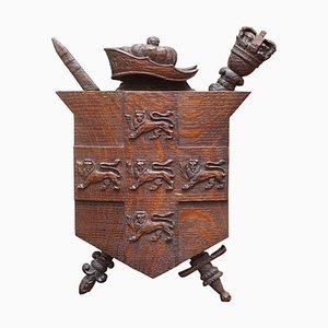 Handgeschnitztes City of York Wappen, 1587